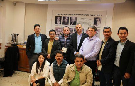 ראש עיר כפר סבא אירח משלחת של ראשי ערים מגוואטמלה