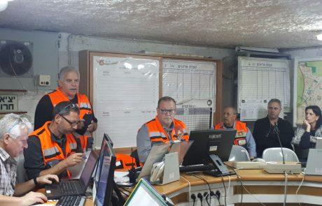 תרגיל העורף הלאומי בכפר סבא: צוותי העירייה תרגלו מענה בעת ירי טילים