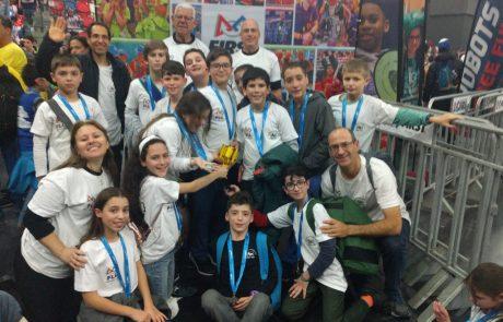 """בית הספר """"אוסישקין"""" בכפר סבא זכה במקום הראשון בתחרות הרובוטיקה"""