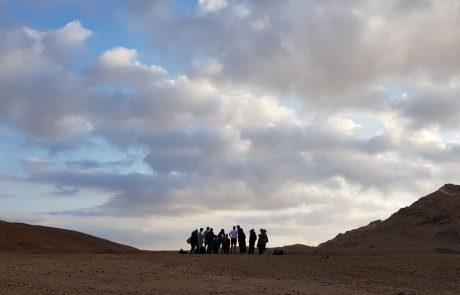 למרות תנאי מזג האוויר הסוער: יצאו בני הנוער למסע ישראלי בדרום